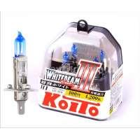 Галогеновая автолампа KOITO H1 WhiteBeam III, 4200K, 55W (P0751W)
