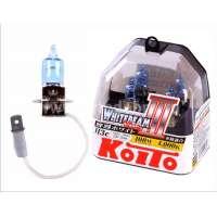 Галогеновая автолампа KOITO H3 WhiteBeam III, 4000K, 55W (P0752W)