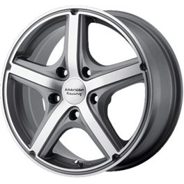 American Racing AR883 7.5x17/5x108 ET40 D72.62 Anthracite/Machined
