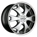 Antera 361 10x22/5x150 ET35 D110.1 Silver Lip Polished