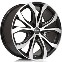 Alutec W10 8x18/5x120 ET40 D72.6 Racing black front polished