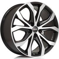 Alutec W10 8x18/5x120 ET40 D72.6 Racing black front polished