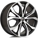Alutec W10 8x18/5x130 ET53 D71.5 Racing black front polished