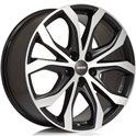Alutec W10 9x20/5x108 ET43 D70.1 Racing black front polished