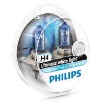 Галогеновая автолампа PHILIPS H4 DiamondVision, 5000K, 60/55W (12342DVS2)