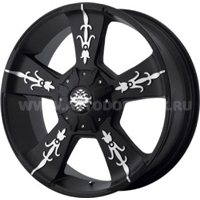 KMC KM668 9x20/6x135 ET30 D100.5 Black/Machined