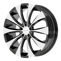 KMC KM679 9x22/5x114.3 ET38 D72.62 Black/Machined