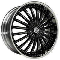 Lexani CS3 8.5x22/5x120 ET37 D78.1 Black/Chrome