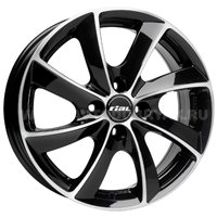 Rial Lugano 7.5x16/5x110 ET38 D65.1 Diamant black front polished