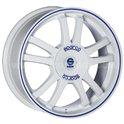 Sparco Rally 7.5x17/5x108 ET45 D73.1 White + Blue Lip