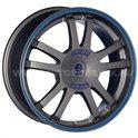 Sparco Rally 7.5x17/5x114.3 ET45 D73.1 Matt Silver Tech blue lip