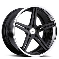 TSW Mirabeau 8x18/5x120 ET35 D76 Gloss Black Mirror Lip