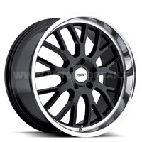 TSW Tremblant 8x18/5x112 ET45 D72 Gloss Black Mirror Cut Lip