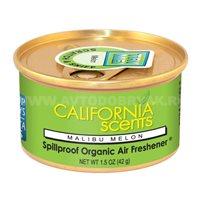 Ароматизатор воздуха на панель приборов CALIFORNIA Spillproof Organic, банка Malibu Melon