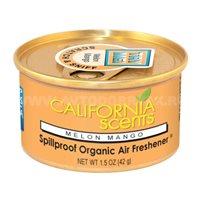 Ароматизатор воздуха на панель приборов CALIFORNIA Spillproof Organic, банка Melon Mango