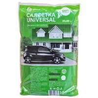 Салфетка GRASS из 100% микрофибры универсальная, 35*40 см., 10 шт.