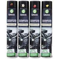Полироль-очиститель пластика GRASS «Dashboard Cleaner» глянцевый блеск, лимон, 750 мл.