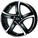 Alutec Shark 7.5x17/5x110 ET38 D65.1 Racing black polished