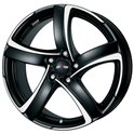 Alutec Shark 7.5x17/5x114.3 ET38 D70.1 Racing black polished
