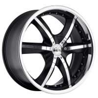 Antera 389 10x22 / 6x139,7 ET35 DIA78,1 Racing Black Lip Polished