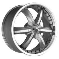 Antera 389 9.5x20/5x130 ET52 D71.6 Silver Matt Lip Polished