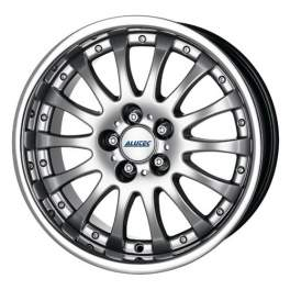 Alutec Magnum 8x17/5x114.3 ET40 D70.1 Sterling silver with stainless steel lip