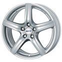 Alutec Grip 7.5x17/5x130 ET55 D71.5 Polar Silver
