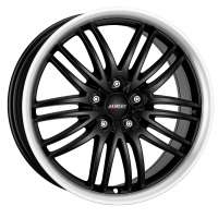 Alutec BlackSun 8x17/5x108 ET40 D70.1 Racing Black Lip Polished