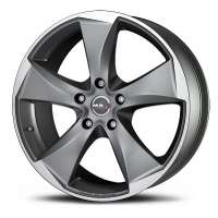 MAK Raptor5 8x17/5x120 ET35 D76 Graphite Mirror Face