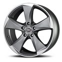 MAK Raptor5 9x18/5x130 ET40 D84.1 Graphite Mirror Face